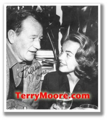 Terry Moore with John Wayne