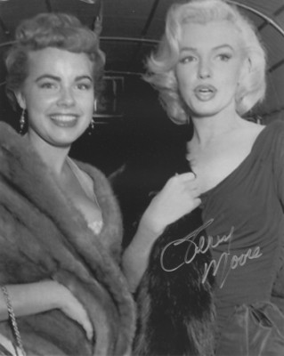 Terry Moore with Marilyn Monroe