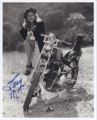 Terry Moore with Motorcycle