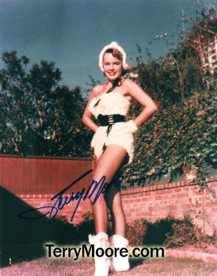 Terry Moore in Ermine Bathing Suit